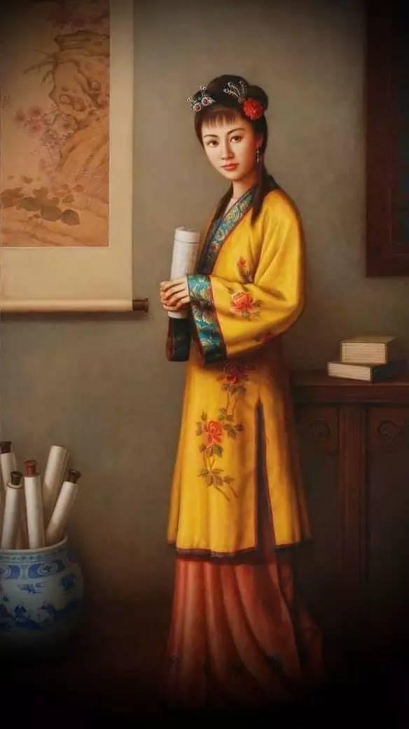 红楼梦金陵十二钗油画,中国文化与西方艺术