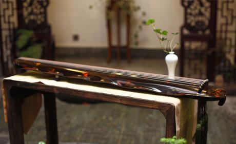 解花语蕉叶古琴,时尚古典中国