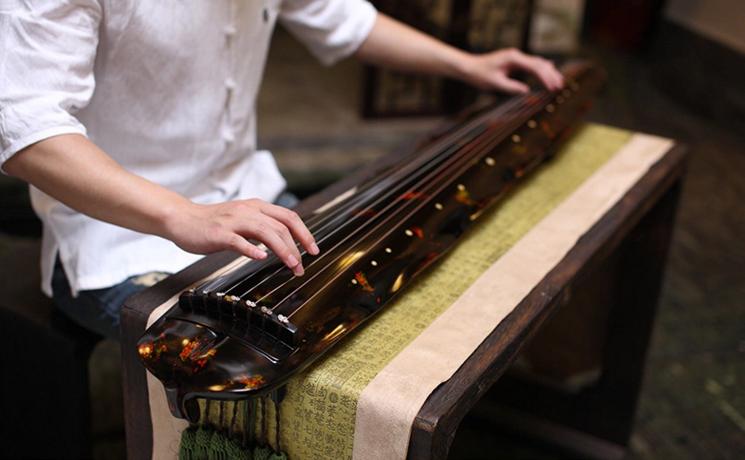 解花语蕉叶古琴,时尚古典中国风民族乐器