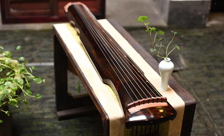 伏羲式古琴,时尚古典中国风民族乐器