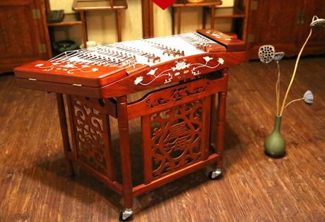 花梨木雕扬琴,时尚古典中国风
