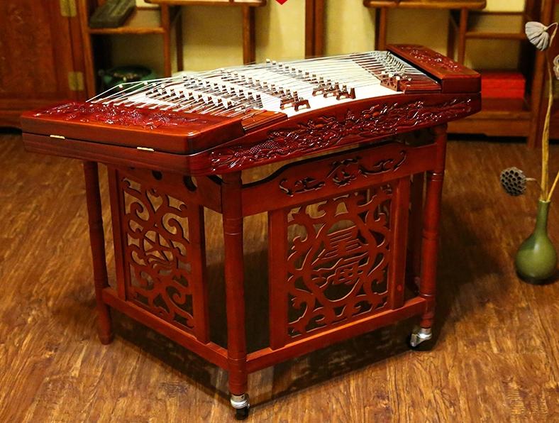 花梨木雕扬琴,时尚古典中国风民族乐器