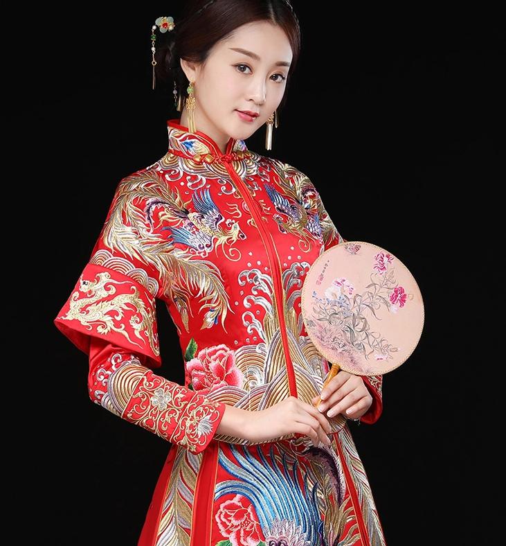 秀禾服龙凤褂新娘礼服,结婚嫁衣中式礼服