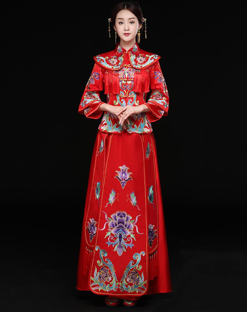 龙凤褂新娘礼服,结婚礼服中式礼服