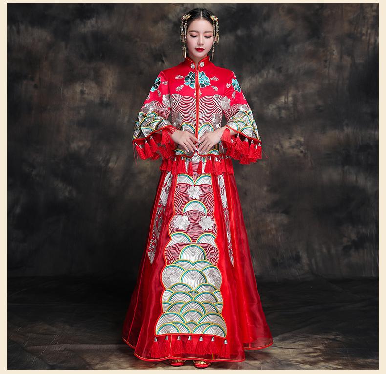 复古典雅新娘礼服,唯美中式结婚礼服
