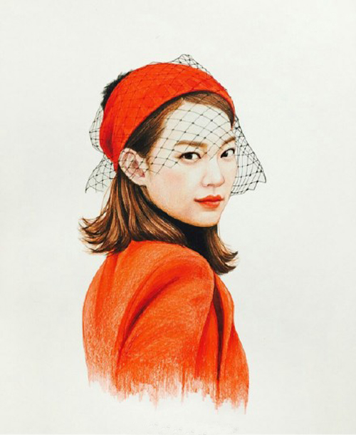 韩国女星手绘插画图片欣赏