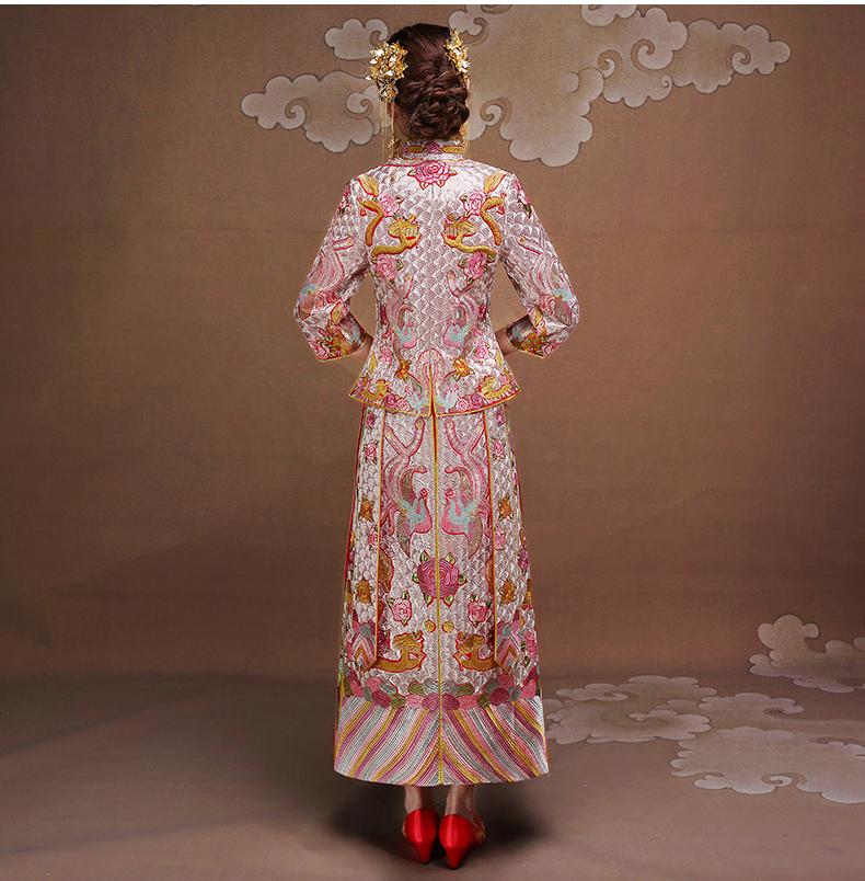 复古时尚中式礼服,唯美中国风新娘礼服