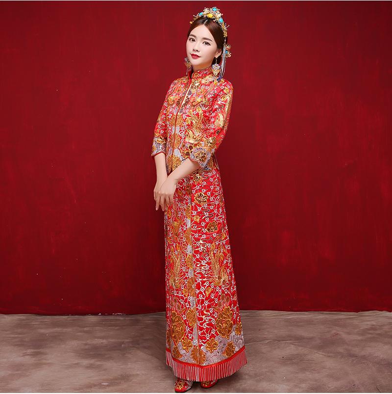 中国风时尚中式礼服,唯美时尚新娘礼服