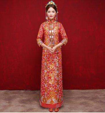 中国风时尚中式礼服,唯美时尚