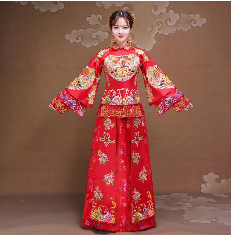 双喜秀禾服,时尚复古新娘中式礼服