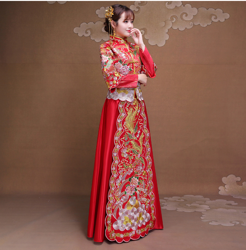 雍容华贵中式礼服,复古时尚中国风新娘礼服
