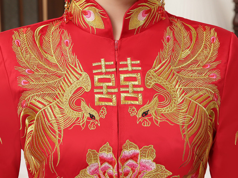 典雅复古中式礼服,复古时尚中国风新娘礼服