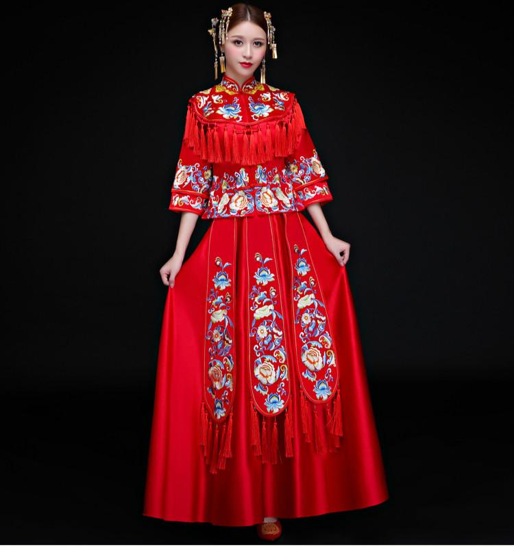 古典时尚中式礼服,中国风新娘礼服