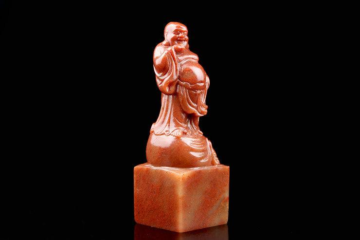 寿山石金石篆刻弥勒笑佛印章