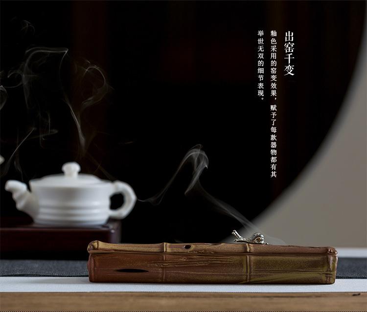 小巧精致寓意节节高升的陶瓷香炉