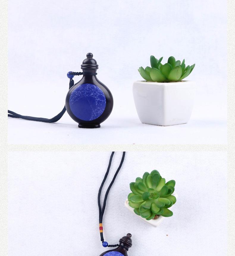 乌木紫光檀木质镶嵌青金石鼻烟壶