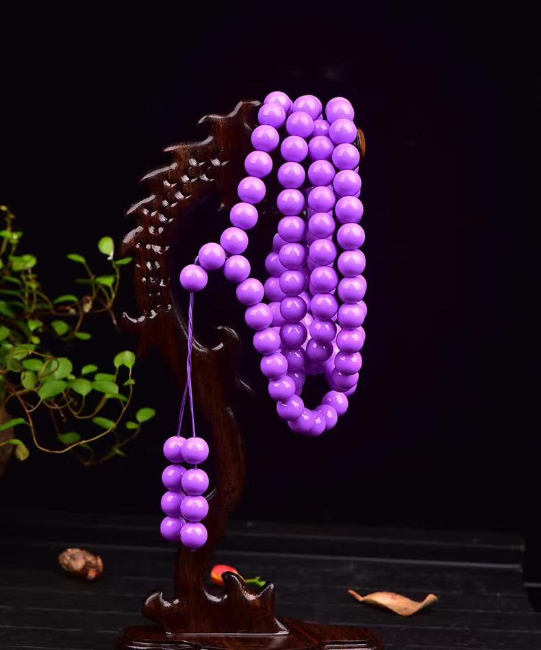 民族风天然紫云母石手串