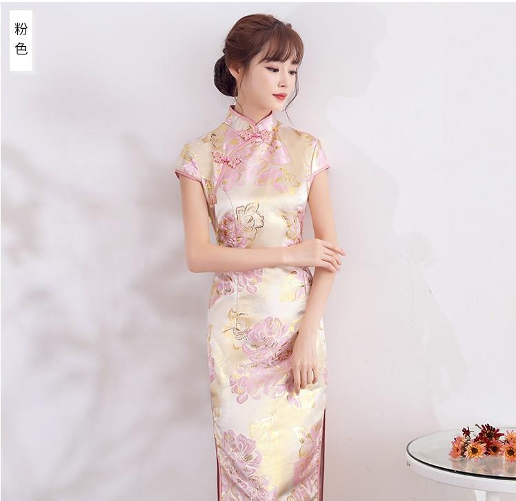 时尚优雅少女旗袍,改良精致花纹旗袍裙