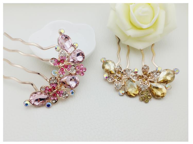 中国风珍珠发梳插梳可爱气质头饰首饰