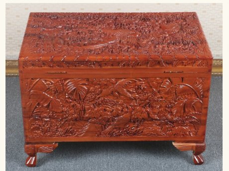 全香樟木箱子,实木中式