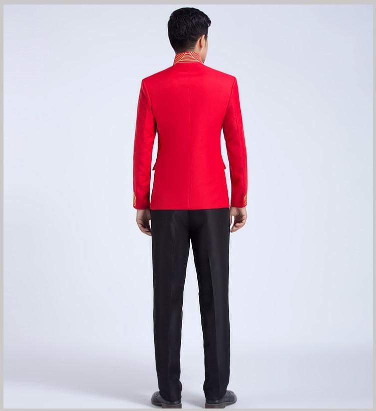 四季中式立领主持礼服,男士改良中山装