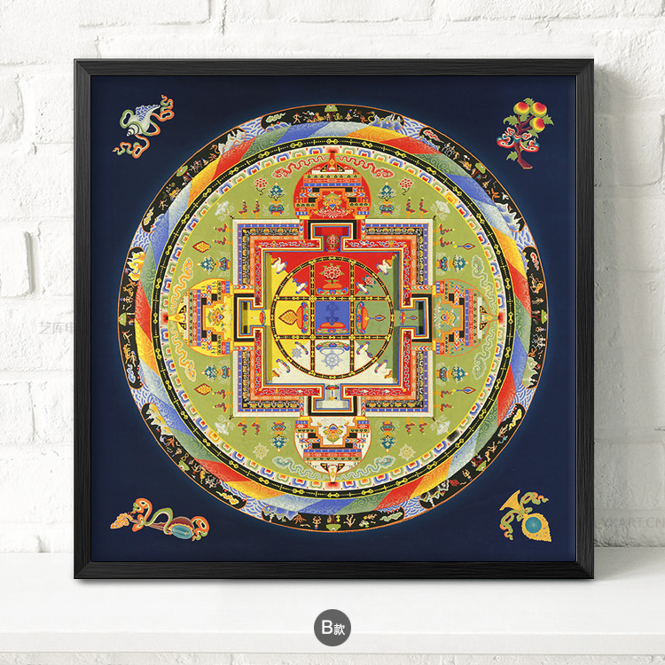 九款民族风抽象图案挂画,中国风古风装饰画