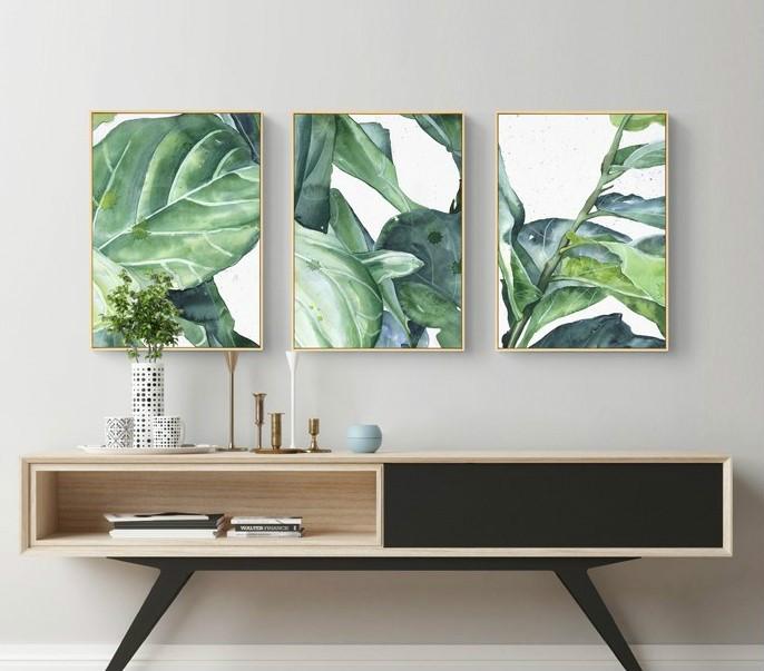 热带雨林树叶艺术装饰画