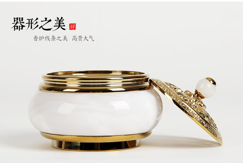 金玉满堂香炉,创意铜玉熏香炉