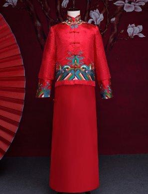 中国风男士中式礼服,中国风新