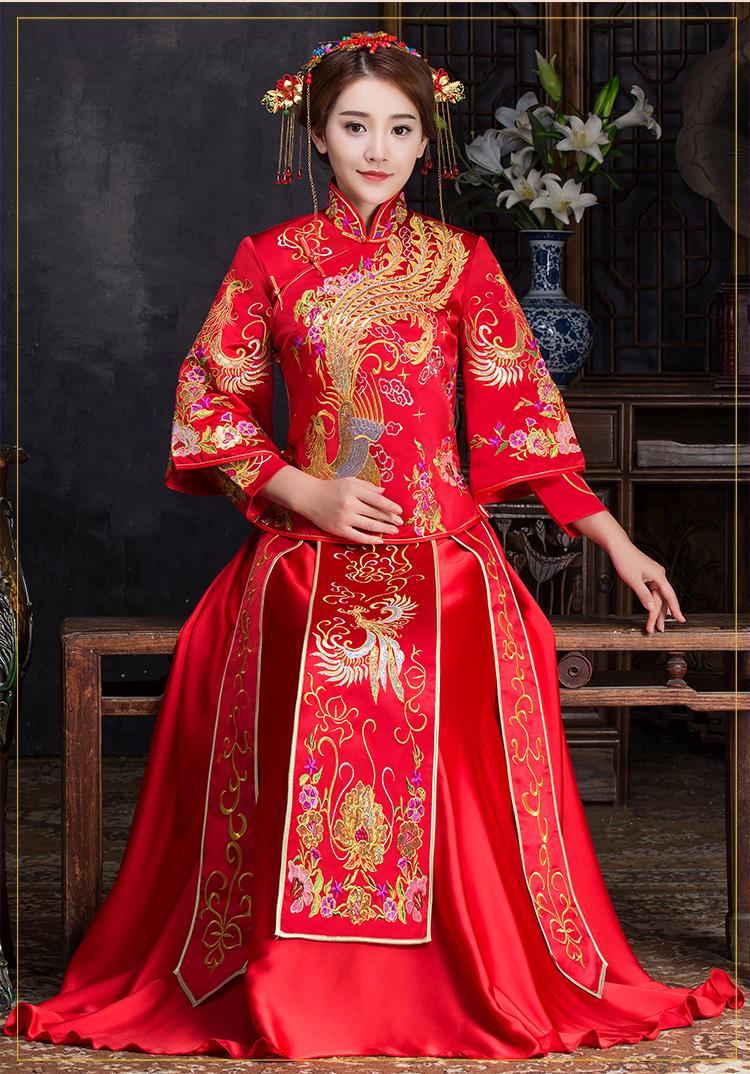 优雅时尚中式礼服,复古中国风新娘礼服
