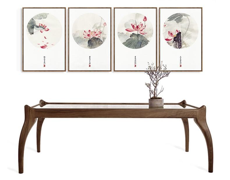四款新中式禅意水墨画,中国风客厅装饰画