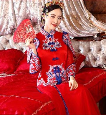 中国结传统中式礼服,唯