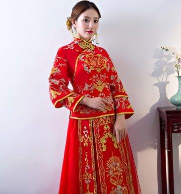 传统韵味中式礼服,唯美