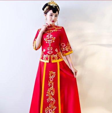繁花似锦中式礼服,传统复古风