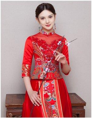 古典华丽新娘礼服,复古蕾丝中