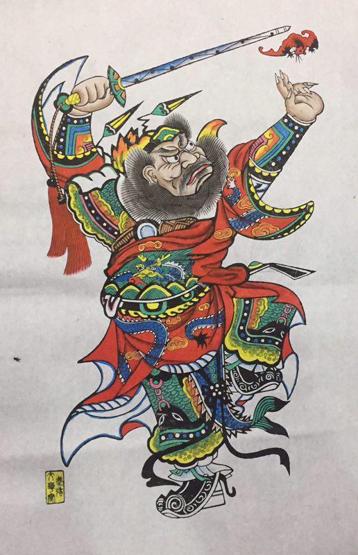 15款生动门神人物年画,唯美中国吉祥人物年画