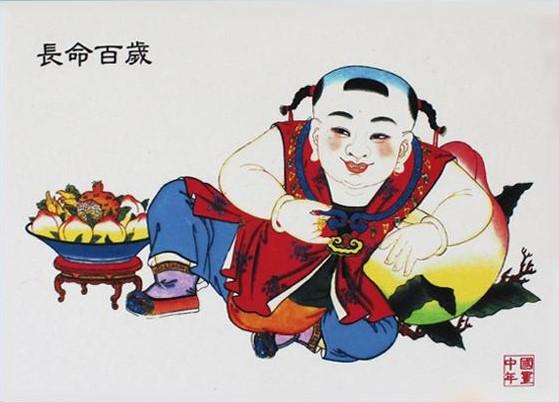 12款民间工艺年画,手绘民俗文化年画