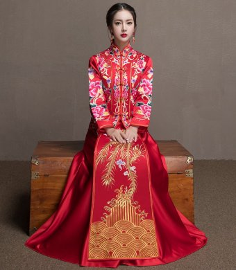 结婚敬酒服_中式礼服_中式晚礼服_中式婚礼礼服_中式礼服图片- 中国风