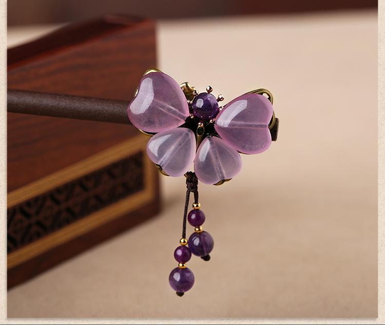 紫色复古风簪子古典头饰