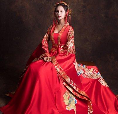 汉服新娘结婚礼服,奢华