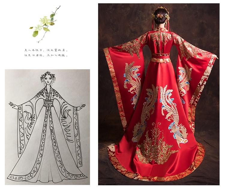 汉服新娘结婚礼服,奢华大气中式礼服