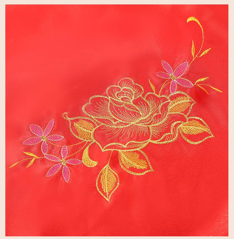 繁缕中式头饰红盖头,唯美流苏刺绣新娘盖头