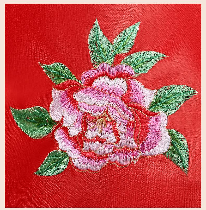花蔺中式新娘头饰红盖头,唯美中国结喜帕新娘