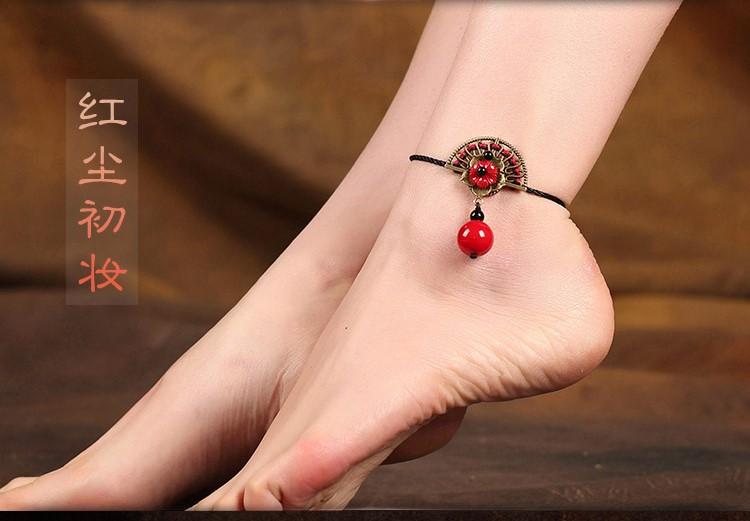 红尘初妆脚链复古民族风饰品