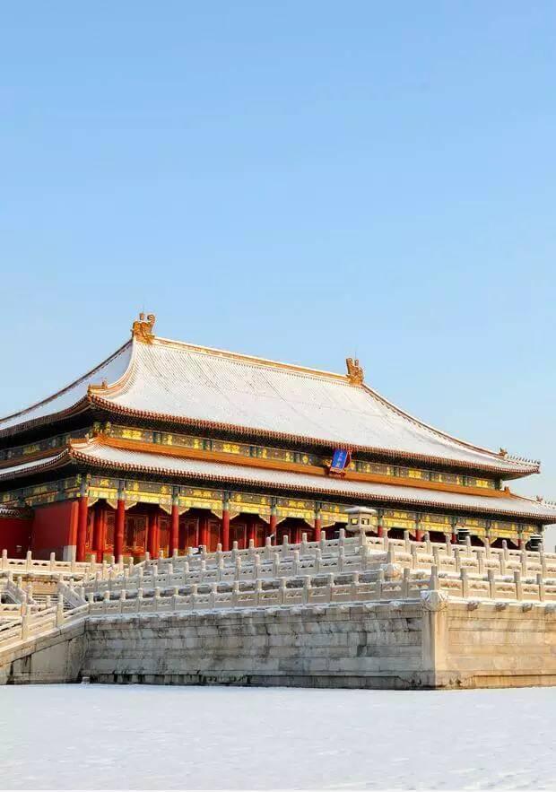 最美中国古建筑:紫禁城下雪了!