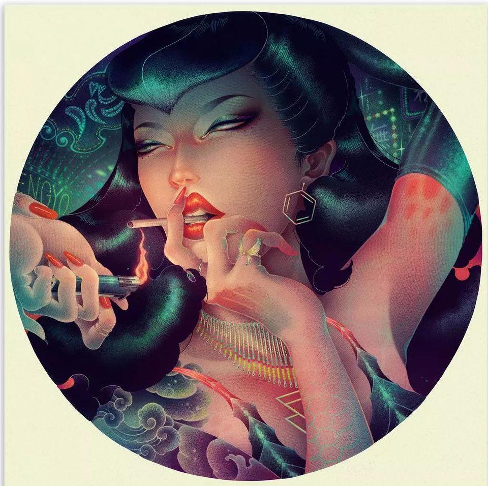 洋溢着肉欲的插画:日本画家笔下的东方美感!