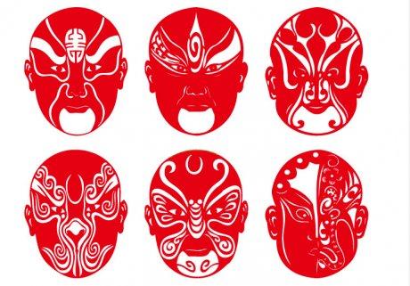 民俗古典剪纸:当京剧脸谱文化