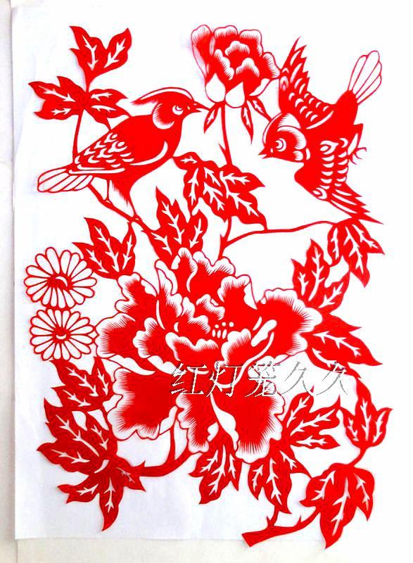 创意小家具_六款唯美花卉剪纸:剪纸画蝶恋花- 中国风