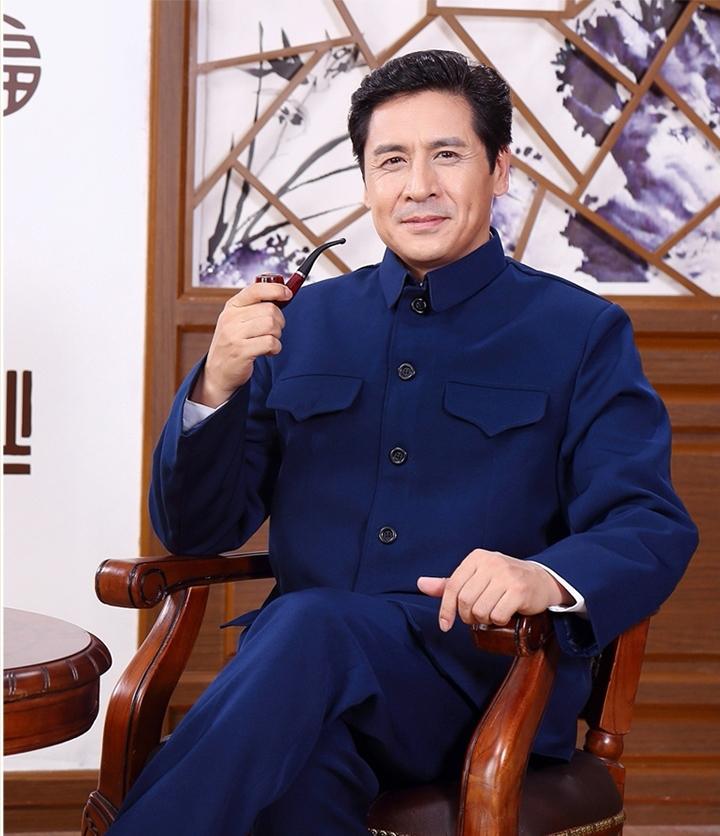 中国风精练大方中老年中山装