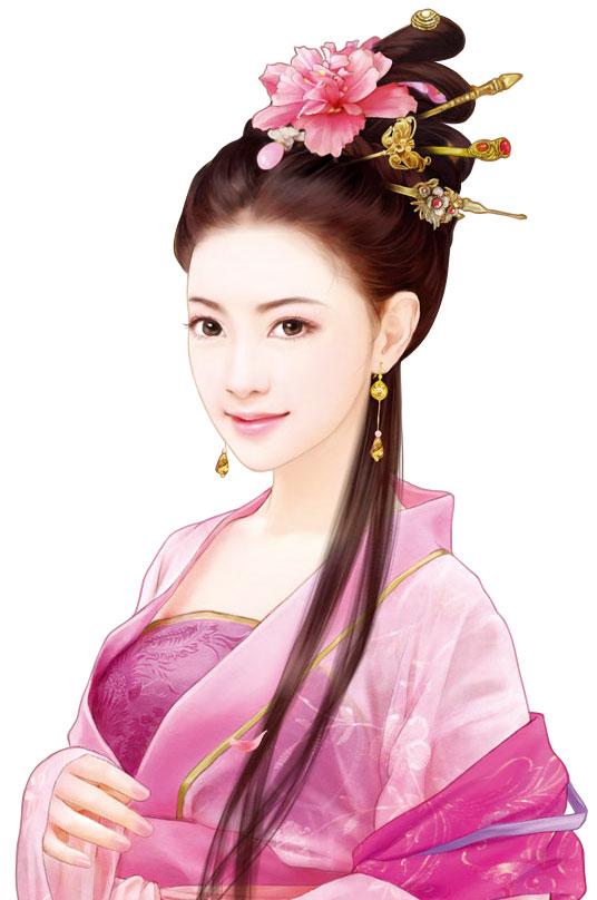 古风中国风人物插画,五款唯美古风人物图片